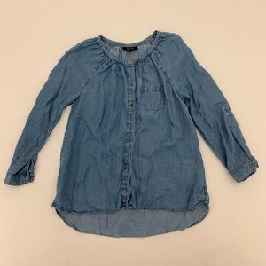 Denim Blue long sleeve button down shirt Small